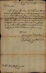 Robert Livingston to Peter Van Brugh Livingston