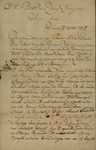 Nicholas Houtschilt to Peter Van Brugh Livingston, March 1, 1751 by Nicholas Houtschilt