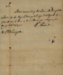 William Alexanders order in favor of Daniel Campbell for Peter Van Brugh Livingston