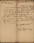 Cadwallader Colden Jr. to Peter Van Bruch Livingston, August 28, 1760