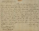 Affidavit of Alexander Chisholm Reporting a Burglary, February 14, 1784