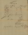 War Office Subsistence signed by Joseph Carleton, June 10, 1785