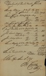 War Office Department of the Quarter Master General report signed by Joseph Carleton, June 10, 1785