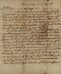 Governor William Moultrie to South Carolina Congress Delegates, July 30, 1785
