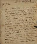 John Baylor to Alexander Donald, October 30, 1785