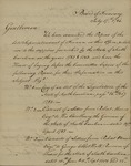 Board of Treasury to Congress Requisiton Committee, July 17, 1786
