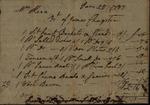 James Chrystics to Susan Kean, June 25, 1787