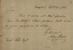 John Kean to Jacob Read, February 26, 1788 by John Kean