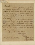 John Kean to Jacob Read, March 5, 1788 by John Kean