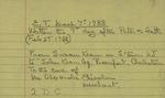 Susan Kean to John Kean, March 7, 1788
