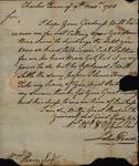 John Woods to William Kain, November 19, 1788