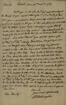 Peter Van Brugh Livingston to John Kean, March 13, 1789