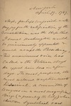 Robert Barnwell to Unknown Person, April 19, 1789