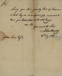 John Rhodes to John Kean, July 20, 1789
