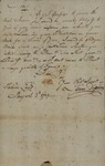 Isaac Dopson to John Kean, August 2, 1789 by Isaac Dopson