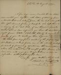 Arnoldus Vanderhorst to John Kean, August 28,1789 by Arnoldus Vanderhorst