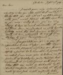John Faucheraud Grimke to John Kean, September 17, 1789