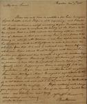 Benjamin Harrison to Alexander Donald, November 7, 1785 by Benjamin Harrison
