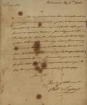 Peter Lyons to Alexander Donald, May 6, 1786