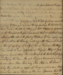 John Randolph to St. George Tucker, September 15, 1789 by John Randolph