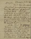 Henry William DeSaussure to John Kean, October 20, 1791 by Henry William DeSaussure