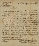 Corvaisier Benoist and Company to John Kean, April 10, 1792
