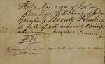 John Faucheraud Grimke with John Kean, November 1, 1791