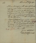 M. McConnell to John Kean, February 17, 1792