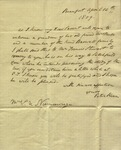 Peter Kean to Susan Ursin Niemcewicz, April 14, 1809