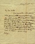 Peter Kean to Susan Ursin Niemcewicz, August 20, 1809 by Peter Philip James Kean