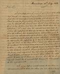 Richard Duncan to Peter Kean, July 13, 1813 by Richard Duncan