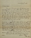 Peter Kean to Isaac Cooper, July 7, 1817