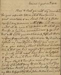 Susan Ursin Niemcewicz to Peter Kean and Sarah Kean, August 25, 1818 by Susan Ursin Niemcewicz