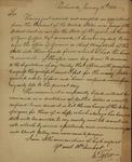 John Tyler to James Barbour, January 15, 1811