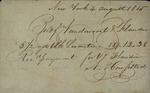 Vandervoort to V. H. Flandin, August 4, 1815 by Vandervoort and N. Hempsted