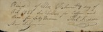 Receipt from William Judson to Mrs. Palmer, October 8, 1828