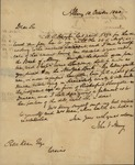 John V. Henry to Peter Kean, October 10. 1820