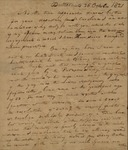 Jacob Morris to Lewis Morris, October 20, 1821