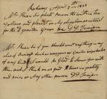 D. D. Tunison to Peter Kean, April 7, 1823 by D. D. Tunison