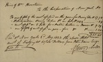 Tax Receipt to the Heirs William Houstoun, May 2, 1823 by N. Jarvis
