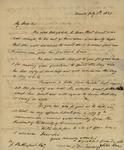 Peter Kean and Susan Ursin Niemcewicz to John Rutherford, July 5, 1823 by Peter Philip James Kean and Susan Ursin Niemcewicz