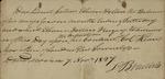 L. Bradish to Peter Kean on behalf of Lionel Collins, November 7, 1827