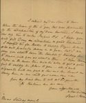 Sarah Sabina Kean to Mrs. Rutherfurd, April 6, 1828