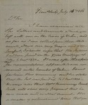 Beverly Robinson to Peter Kean, July 16, 1828