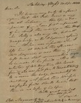 Theodore Sedgwick to Peter Stuyvesant, September 30, 1828