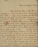 Sarah Sabina Kean to John Rutherfurd, July 21, 1829