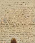 Sarah Sabina Kean to John Kean, July 24, 1829 by Sarah Sabina Kean