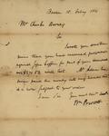 William Prescott to Charles Barney, February 15, 1826