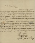 William Thomas Carroll to John Kean, December 9, 1837 by William Thomas Carroll