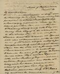 James M. Wayne to Sarah Sabina Kean, March 6, 1830 by James M. Wayne